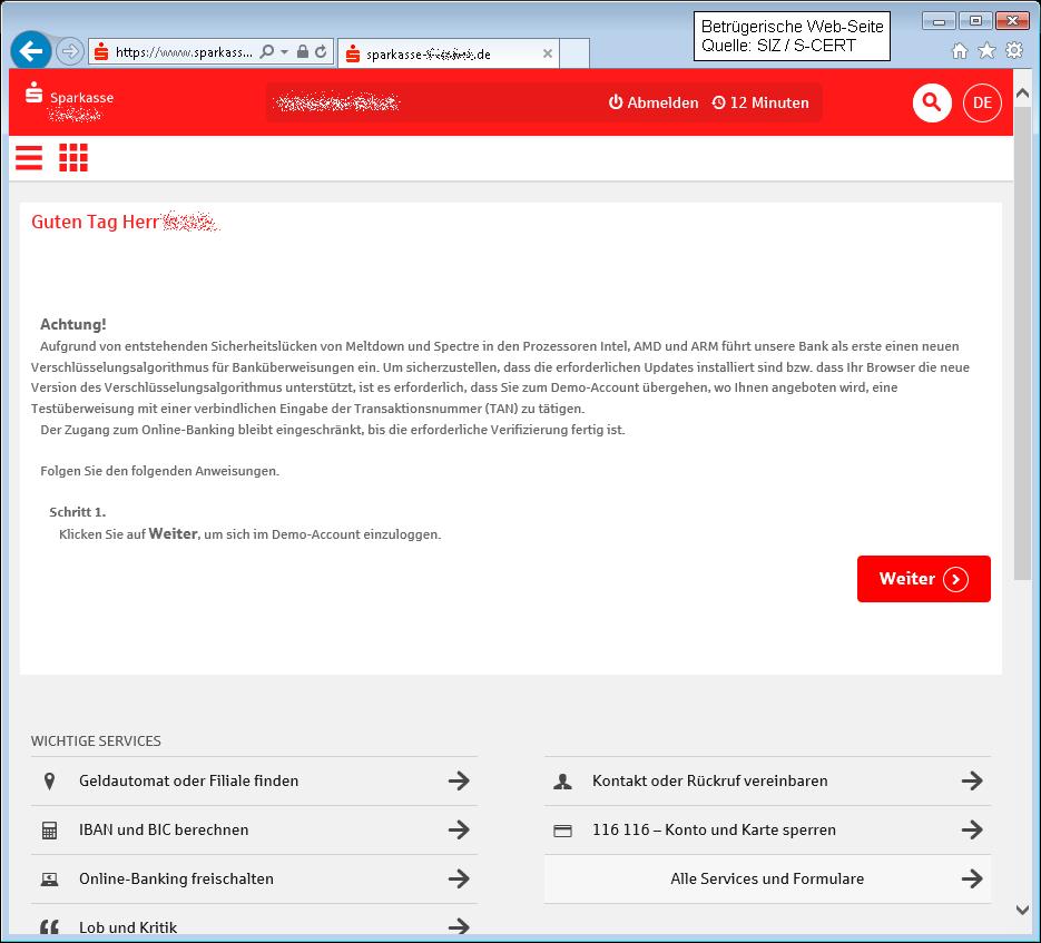 Online Banking Registrieren